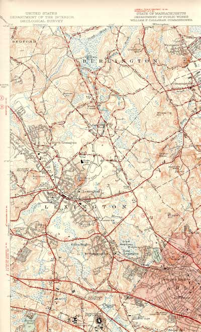 Map of Landlocked Forest 1950