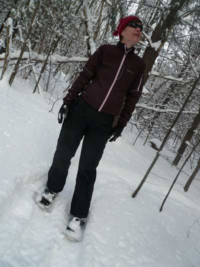 Snowshoeing in the Landlocked Forest